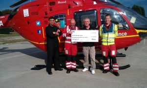 £1424.00 Collected for Air Ambulance